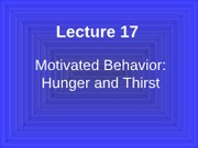 Lecture 17 Hunger Th#390C1A