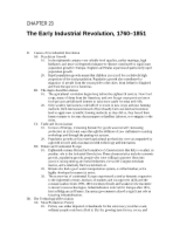 22 - The Early Industrial Revolution, 1760 - 1851