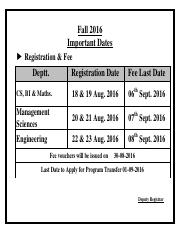 Important Dates Online Registration Fall-16.pdf