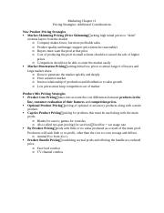 Marketing Chapter 11 - Pricing strategies additional considerations.docx