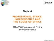 MAA350 - 2015 T2 Lecture Notes Topic 6 Prof independence and codes