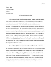 Five Page Paper #1