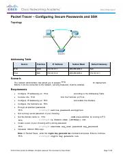 11.2.4.5 Packet Tracer - Configuring Secure Passwords and SSH.pdf