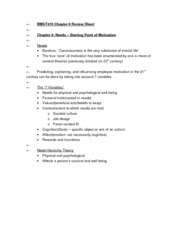 BMGT470 Chapter 6 Review Sheet