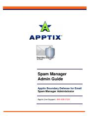 Apptix Spam Manager Admin Guide