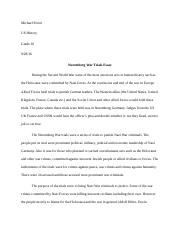 religion hw michael porter jesus christ his mission and  2 pages nuremberg war trials essay