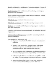 Health Informatics and Health Communications Notes