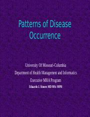 8544- 3- Patterns of Disease Occurrence