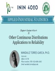 Continuous Distributions and Reliability.pdf