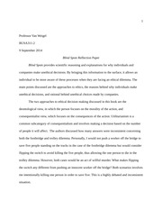 Blind Spots Reflection Paper