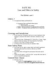Unit 7 OSHA LAW 1 Notes