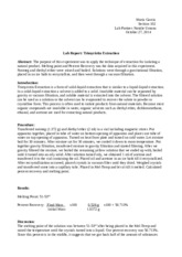 Lab Report Trimyristin Extraction