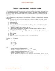 Comm 215 Solutions in book Chapter 9