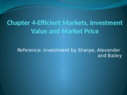 8. Efficient Markets, Investment Value and Market