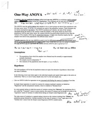one way ANOVA (solved)