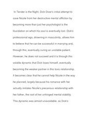 Essay on Dick Losing Himself