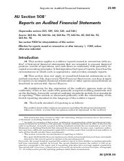 AU-00508 - reports on Audited FS