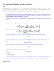 HW7 The resistance of a pocket calculator solution.pdf