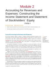Module 2 -Accounting for Revenues and Expenses - Part 4