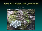 Chapter 6 Kinds of Ecosystems & Communities