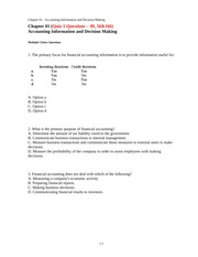 FINANCIAL ACCOUNTING CH 1 TEXT QUESTIONS AND ANSWERS!