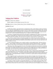Judging our Children article