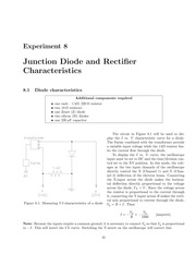 Junction Diodes and Rectifiers Lab