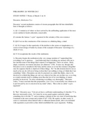 PHILOSOPHY 201 WINTER 2013 Study Notes 8