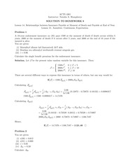 Homework 8 Solution on Principles of Actuarial Models Life Contingencies