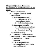 Child Dev#13 - EDITED Lecture Notes.doc