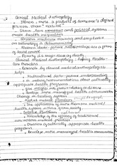 Critical medical Anthropology - lecture note
