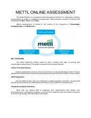Mettl Product Deck