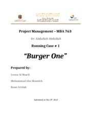 Burger one running case