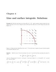Line and Surface Integral Lecture Solutions