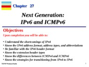 Chap-27 Next Generation IPv6