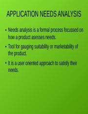 Application needs analysis.odp