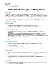 Neehr Perfect EHR Activity-Case Study Review v10(1).docx