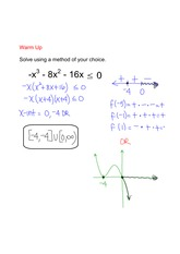 solving polynomials notes