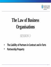 Law of Business Organisations Session 3 2014