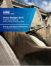 KPMG-Union-Budget-Energy and Natural Resources-PoV-2015