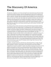 The Discovery Of America Essay.docx