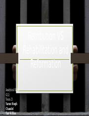 Retribution vs Rehabilation