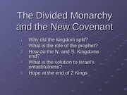 13_The Divided Monarchy and Exile