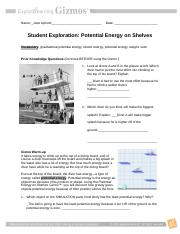4.06 Potential Energy- Assignment
