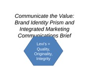 Communicate the Value wk6 Tappin