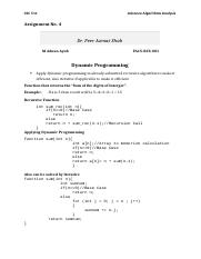 Advanced Algorithms Analysis-CSC511 - 4th Assignment.docx