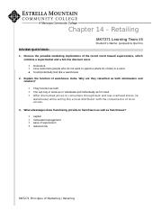 Chapter 14 - Review Questions (Retailing) .docx