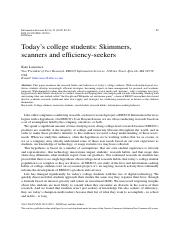 Today's college students: Skimmers, scanners and e.pdf