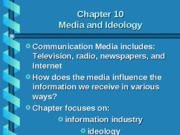 10 Media and Ideology