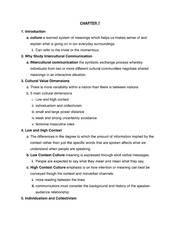 Intercultural Communication Notes